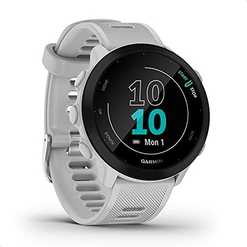 """Garmin Forerunner 55 – GPS-Laufuhr mit 1,04"""" Always-On-Farbdisplay, täglichen Trainingsempfehlungen, Laufzeitprognose, über 15 vorinstallierten Sport-Apps & bis zu 14 Tagen Akkulaufzeit."""
