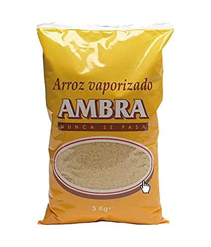 ARROZ REDONDO VAPORIZADO AMBRA 5 KG (2 PAQUETES)