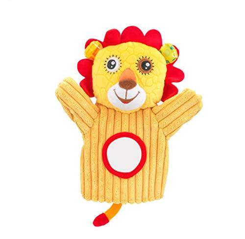 TRAINSTOO Juego de marionetas de mano de animales de peluche para niños pequeños,Marioneta de mano de animales de peluche,Juego de rol y enseñanza interactiva,Juguetes interactivos para bebés león