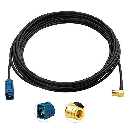 Bingfu DAB Autoradio Antenne Fakra Z Buchse to SMB Stecker Adapter mit 5m 16.4-Ft RG174 Verlängerungskabel Kompatibel mit Autoradio Pioneer Kenwood Sony Pure Alpine Clarion MEHRWEG
