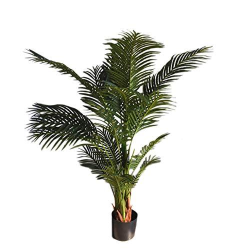 Wumudidi Planta de Palmera de Areca Artificial, Palmera de Seda Decorativa Areca de 5 pies con una Olla Negra Fija