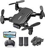 KIDOMO F02 Mini Drone Plegable con Cámara 1080P, RC...
