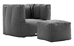 Considered The Ultimate In Comfortable Convenience Lux By Big Joe Cube Ottoman Bean Bag Offers A Casual Yet Luxurious Seating All While Being