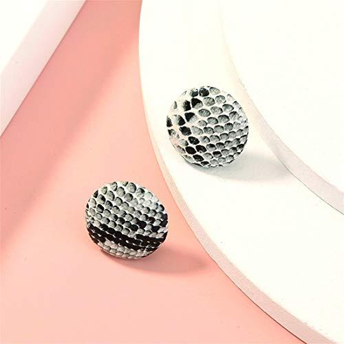 Pendientes regalos para ella pendientes de plata con botones y diseño de piel de serpiente, mini aretes geniales regalos para mamá amigas