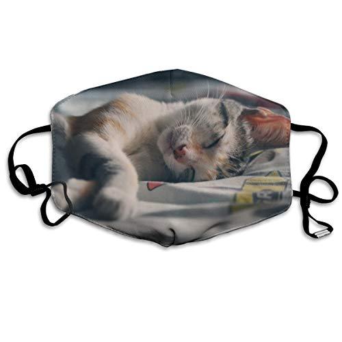 Bezaubernde Tier-Gesichtsmaske mit bezauberndem Katzenmotiv, Unisex, voller Schutz, Halstuch