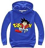 Silver Basic Sudadera Deportiva para Niños Sudadera con Capucha Dragon Ball Super Goku para Niños130, Azul D-6