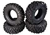 MASSFX KV 26' Tall ATV/UTV Off-Road Utility Tire (26x9-12 Front 26x11-12 Rear...