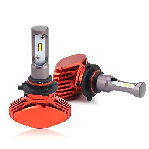 Ampoule à LED 8000LM/paire 6500K couleur blanche de recharge 12V-24V pour voiture moto ampoule auto longue portée de BraveWAY (9005, Orange)