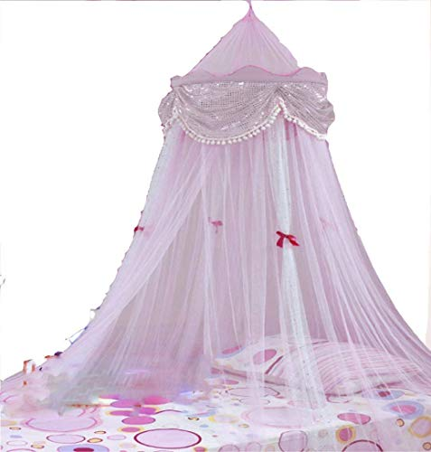 Princess Canopy with Sequins By Sid Trading