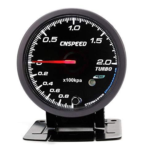 Dhmm123 Digital 60 MM 12 V Auto Turbo Ladedruckanzeige 2 BAR Mit Sensor Weiß & Bernstein Beleuchtung Schwarzes Gesicht Turbo Ladedruckanzeige YC101411 Spezifisch
