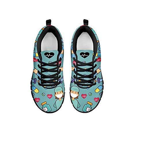Coloranimal - Zapatillas deportivas ligeras para caminar con calaveras de azúcar