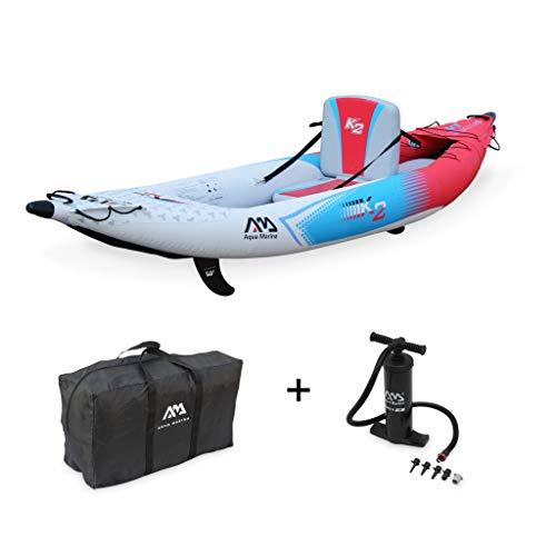 Alice's Garden Canoë Kayak Gonflable - Betta K2 monoplace - Bateau 10'3' 3,12m de Long, 1 Place...
