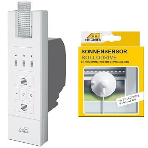 Schellenberg El. Gurtwickler Rollodrive 65 Standard, weiß, 22765 + Schellenberg Sensor für RD55, RD65 und RD105, weiß, 22720