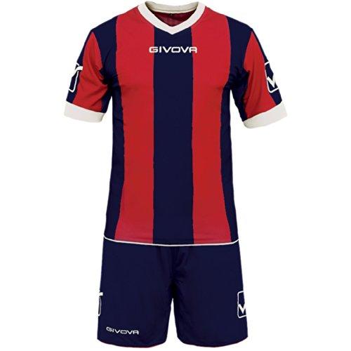 Givova Catalano Completo Calcio, Multicolore (Blu/Rosso), M