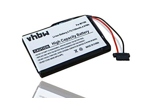 vhbw Li-Ion Akku 1100mAh (3.7V) passend für Navigationsgerät GPS Medion Gopal E4230, E4240, E4245 ersetzt M1100.