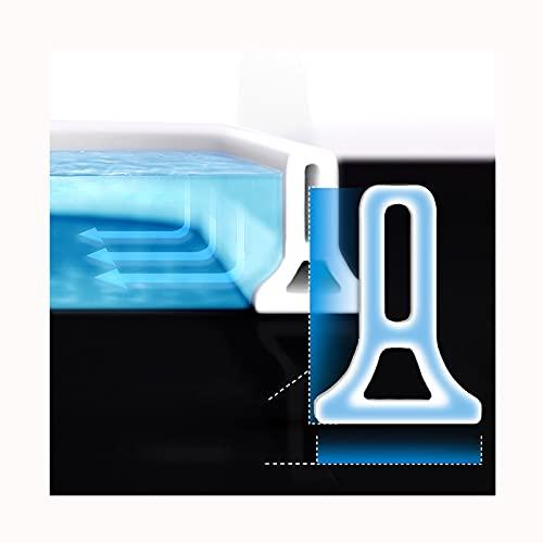 ZDSS Ducha Presa Barrera de Agua de Silicona,Tira de Sellado de la Puerta La Presa de la Ducha Evita el desbordamiento del Agua,Tira Impermeable autoadhesiva,Diseño Triangular en la Parte Inferior