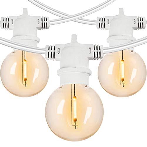ZYAN 100FT Outdoor String Lights G40 Bulbs