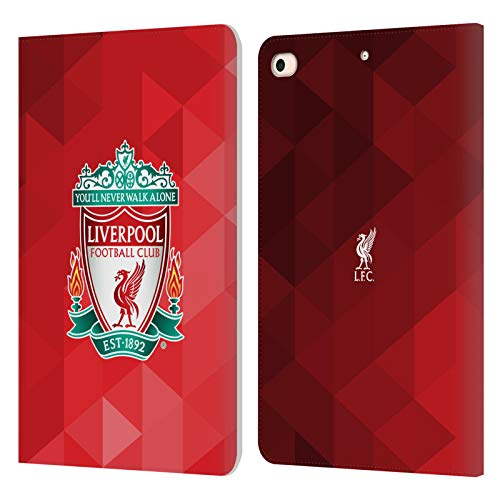 Official Liverpool Football Club Red Geometric 1 Crest 1 PU Leather Book Wallet Case Cover Compatible For Apple iPad mini (2019)