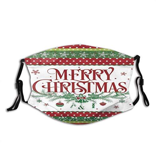 Merry Christmas Dekorativer Winter, Unisex, waschbar und wiederverwendbar, Baumwolle, warmer Gesichtsschutz für den Außenbereich