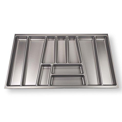 SO-TECH® Portaposate ORGA-BOX II Maxi per Cassetti Nobilia 90 cm (462 x 805 mm) Grigio Argento