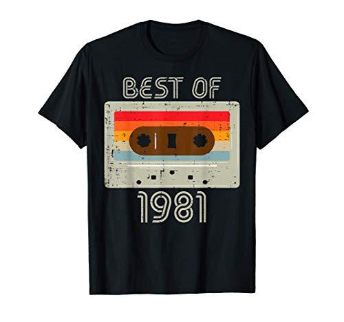 Best of 1981 Casete Retro 40 aniversario 40 años Papá Regalo Camiseta