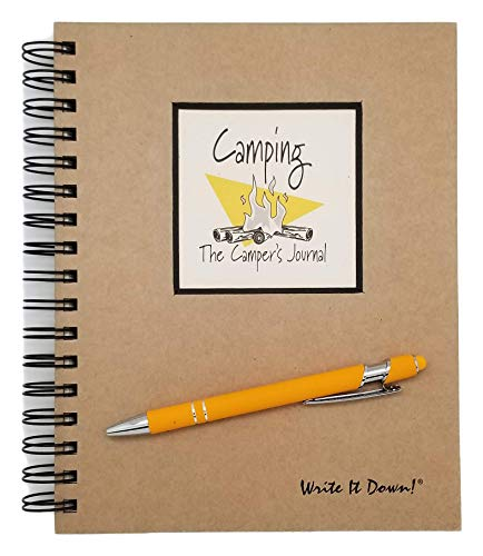 Camping Journal and RV Log Book With Guided Prompts By Journals Unlimited Including Ink Pen With Stylus