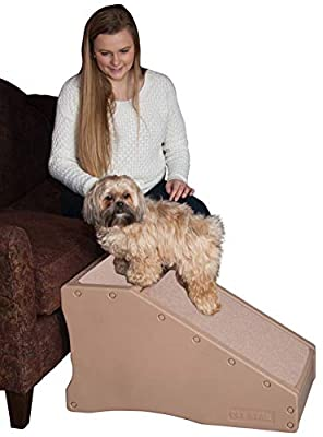 Pet Gear Stramp Stair and Ramp Combination, Dog/Cat Easy Step, Lightweight/Portable, Sturdy, StRamp-Tan
