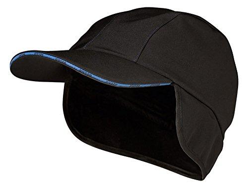 Winter-Softshell Caps (schwarz/Marine)