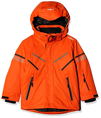 CMP Jungen Skijacke 39W1854 Jacke, Red Orange, 140 (L)