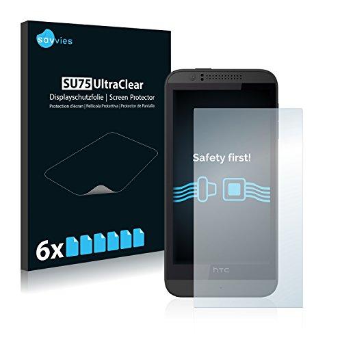 Savvies 6X Schutzfolie kompatibel mit HTC Desire 510 Bildschirmschutz-Folie Ultra-transparent