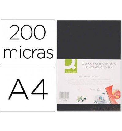 Q-Connect KF26808 - Pack de 100 tapas de encuadernación, A4: Amazon.es: Oficina y papelería