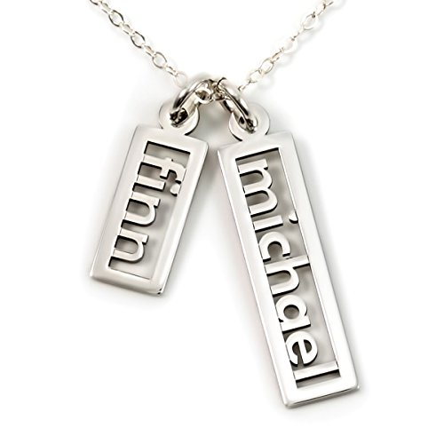 AJ's Collection Personalized Necklace Open Double Sterling Silver or 14k Gold Plate over Sterling Silver
