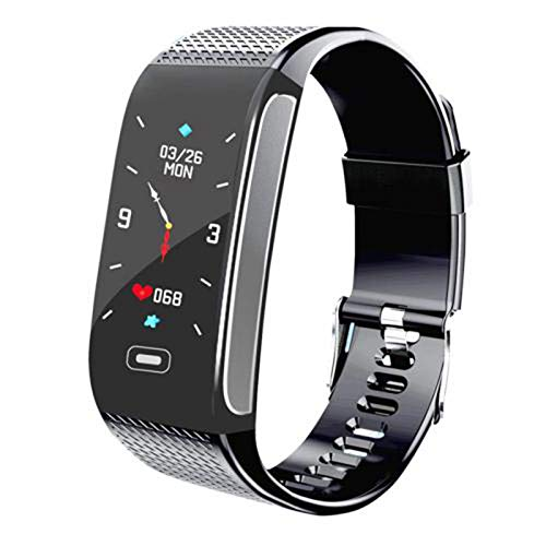 YYZ Smartwatch para Hombres Y Mujeres para Android iOS Fashion Sports Impermeable IP68 Presión Arterial Fitness CK18S Smart Watch,A