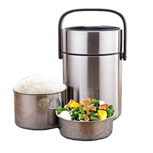 JSWBW Best Stainless Steel Soup Thermos Food Jar Triple Wall Vacuum Insulated Hot Soup & Cold Meals Storage Container Jar - Kid's School Lunch, No Leaks,2L