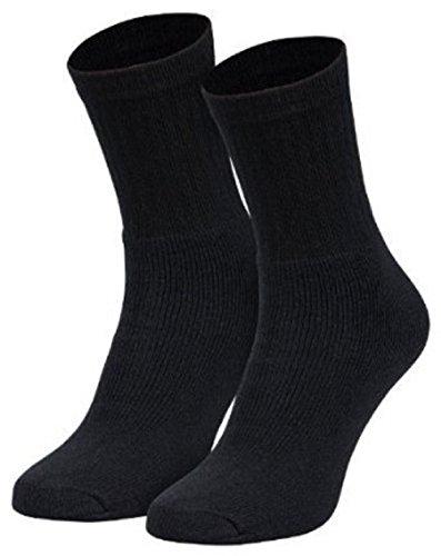 Tobeni 10 Paar Herren Sport Socken schwere Qualität Unisex Farbe Schwarz Grösse 47-50