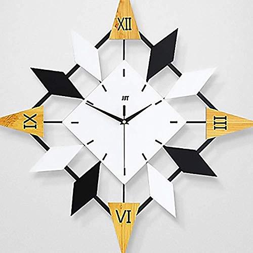cjcaijun Reloj de Pared Moderna Irregular plástico y Metal Reloj de Pared Interior de la Sala de Estar Dormitorio