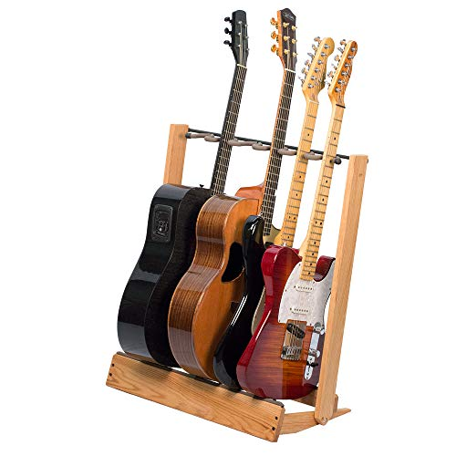 Guitar Stand for 6 Electric or Bass,or 3 Acoustic Guitars – Stand Accessories for Home or Studio -...