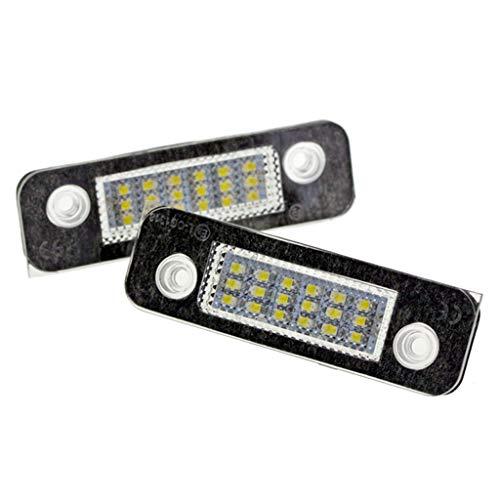 Mikiya 2 stuks 12 V 18 LED kentekenplaatverlichting wit licht SMD voor Ford Fusion Mondeo / MK2 voor Fiesta MK5