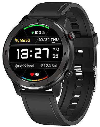 DSY Reloj de Pulsera 1.3 Pulgadas Completa Táctil Redondo Pantalla Inteligente Hombres Reloj Deportivo Inteligente Ip68 Pulsera Inteligente Impermeable 5 Días Standby Smartwatch Fitnes