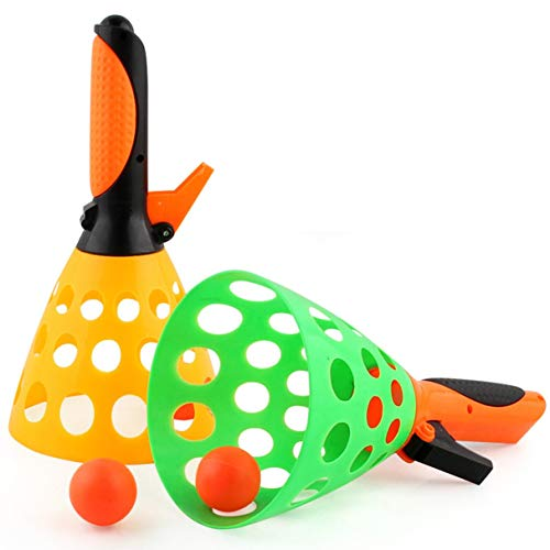 Morninganswer 1 Juego de Pelota de Lanzamiento de Tenis de Mesa catapulta para Padres e Hijos, Juguete niños, Pelotas de Goma interactivas al Aire Libre, Juguetes de Pelota de Ping Pong