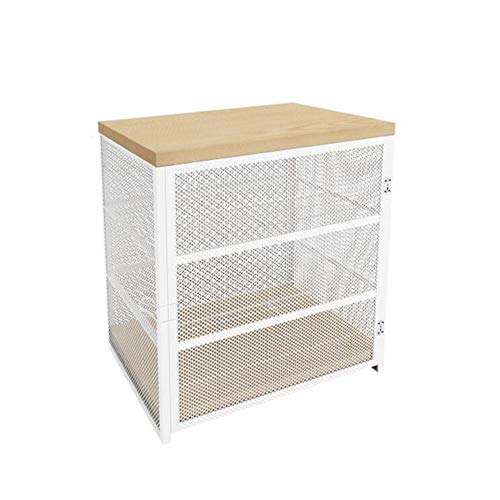 JCNFA-BOEKENPLANK Stalen Gaaskast, Kleine Planken, Multifunctionele Opbergkast In De Keuken, Boekenkast/Badkameropslag (Color : White, Size : 15.74 * 9.44 * 16.14in)