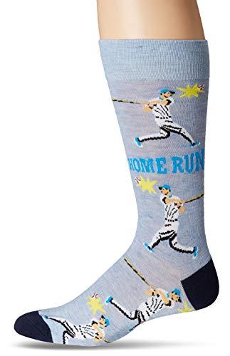 DAVCO Mens Novelty Crew Sock, baseball Player, One Size
