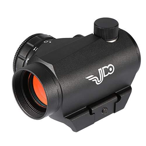 UDO Optical 2MOA Micro Red Dot Sight Scope, 11 Adjustable Brightness Levels, Shock/Water/Fog Proof,Aluminium Alloy,Durable, Black