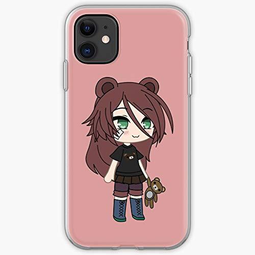 Owo Life Oc Magical Brown Manga Japanese Chibi Teddy Bear Gacha Anime Girl- Phone Case for All of iPhone 12, iPhone 11, iPhone 11 Pro, iPhone XR, iPhone 7/8 / SE 2020… Samsung Galaxy