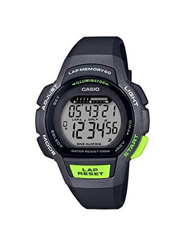 Casio Women's Runner Series Quartz Running Watch with Resin Strap, Black, 19.3 (Model: LWS-1000H-1AVCF)