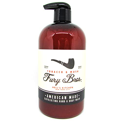 Black Series Exfoliating Hand & Body Power Wash | All Natural, Vegan Friendly, Pumice Scrub | Classic Scents ReinventedTobacco & MuskGrand Dad's Study, the Florida Keys | Made In The USA | 16 oz