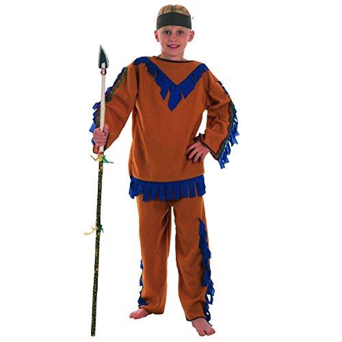 Bristol Novelty Cc372 Costume de Garcon Indien Budget, Taille S, Age 3-5 Ans, Bleu, Petit