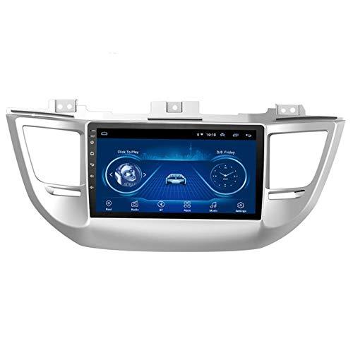 JALAL Navegador GPS para Coche para Hyundai Tucson 2015-2018 Sistema de navegación GPS Integrado de Cuatro núcleos Android con Enlace Espejo para teléfono iOS y Android Entrada AUX/CAM/DVR