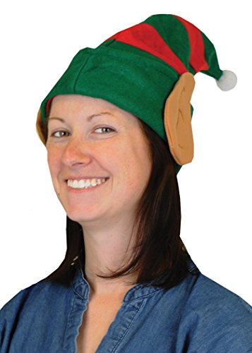 Beistle Christmas Elf Hat with Ears-1 pc, Red/Green/White/Brown