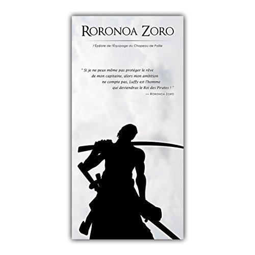 One piece Tableau Poster Décoration Manga Luffy Zoro Sanji Nami Pirates ARIMAJE (60 x 120 cm, Plaque Rigide Alu 2 mm)